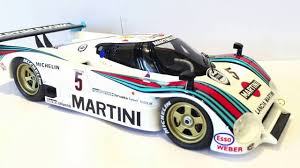 martini racing ferrari lancia lc2 martini racing spark 1 18 scale diecast model review le