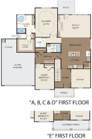 columbia floor plan at the reserve at old lost mountain in powder