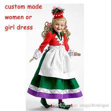 Custom Halloween Costume Custom Women Red Munchkin Costume Wizard Oz Party