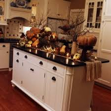 rustic primitive kitchen countertop with fall decorating ideas
