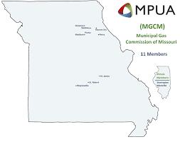 Map Of Missouri And Illinois by Gas Commission Mpua Missouri Public Utility Alliance