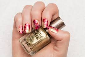 barry m abstract meadow nail art tutorial ft molten metal u0026 lolly