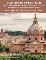 breast imaging cme in rome italy june 2018