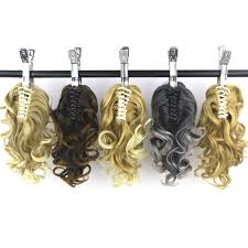 Real Ponytail Hair Extensions by Popular Clip In Curly Ponytail Hair Extension Buy Cheap Clip In