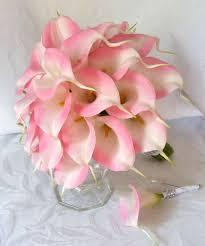 pink calla pink calla wedding bouquet real touch mini pink calla