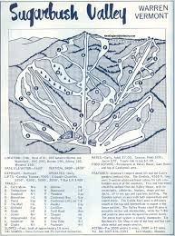 New England Area Map by 1964 65 Sugarbush Valley Trail Map New England Ski Map Database