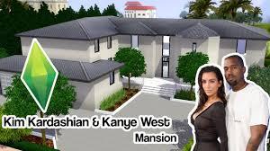 kardashian house floor plan the sims 3 kim kardashian u0026 kanye west bel air mansion youtube