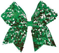 hair bow ribbon chassé dangle sequin performance hair bow omni cheer