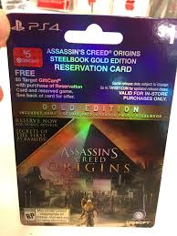 spirit halloween assassin s creed report assassin u0027s creed origins pre order card leaks mentions