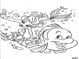 click to see printable version of flounder fish coloring page