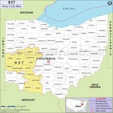 area code de usa 937 area code map where is 937 area code in ohio