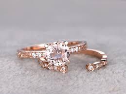 open wedding band 0 5 carat aquamarine bridal set diamond wedding ring 14k