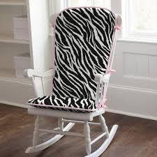 chair cushions the indoor dining wedgelog design image of black and white zebra rocking chair cushions