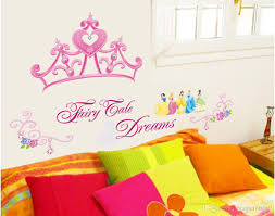 nursery wall decor girl princess price comparison buy cheapest cheap removable pink princess crown wall sticker best vinyl animal girls room headboard wall mural