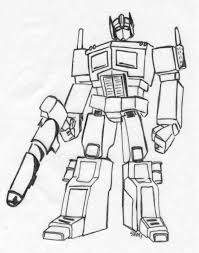 optimus prime coloring pages eson me