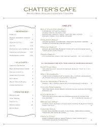 menu for brunch brunch menu chatter s cafe bistro