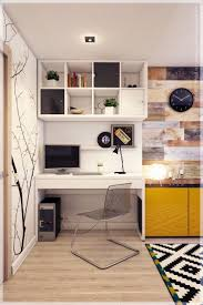 interior design designs of bookshelf with study table attached