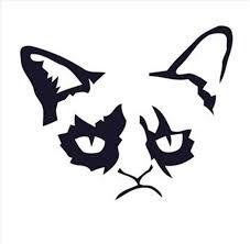 Grumpy Meme Face - cat face clipart