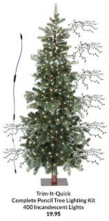 sale pencil tree lighting kit incandescent 400 lights clear