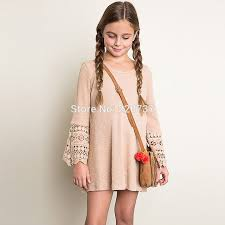 aliexpress com buy casual hollow long sleeve teens girls dresses