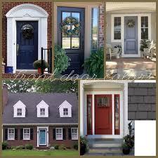 Exterior Door Color Combinations Stunning Front Door Colors With Brown Shutters Ideas Ideas House