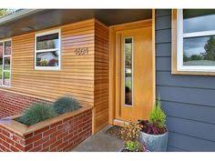 magnificent wood siding vogue portland midcentury entry decoration