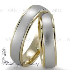 two tone wedding rings matching wedding rings 18k gold two tone matching wedding bands