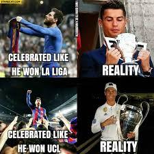 Chions League Memes - messi celebrated like he won la liga celebrated like he won ucl uefa