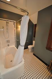 innovative l shaped shower curtain rod decorating for bathroom
