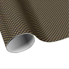 matte black wrapping paper black matte gold white stripe wrapping paper zazzle
