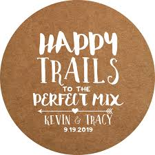 wedding favor labels happy trails paper wedding favor labels icustomlabel