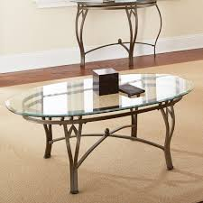 steve silver madrid oval glass top coffee table hayneedle