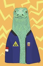 komodo dragon wildlife art decor fun and quirky prints for