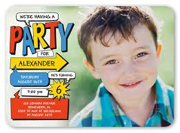 colorful comic 5x7 invitation birthday boy invitations shutterfly