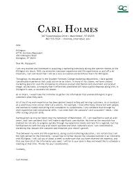 cover letter marketing internship cover letter examples sports