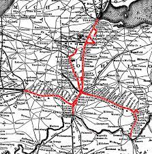 Map Of Cincinnati Cincinnati Hamilton U0026 Dayton Railroad