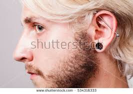 mens ear piercing piercing stock images royalty free images vectors