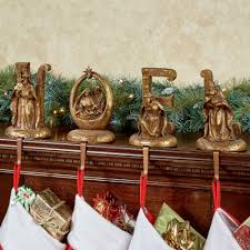noel word stocking holder set