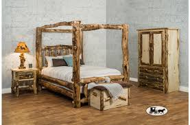 Bedroom Furniture Canopy Bed Amish Adirondack Real Wood Bedroom Furniture New York
