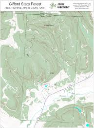 Map Of Athens Ohio by Athens Area Outdoor Recreation Guide Gifford State Forest