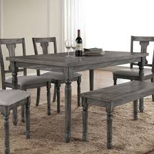 acme wallace dining table in weathered blue washed ac 71435 for