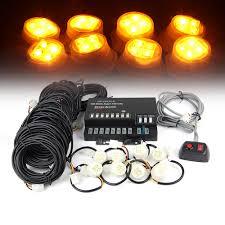 160w 8x led hide a way strobe lights xprite