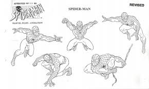 tales from weirdland spider man model sheets for the 1994
