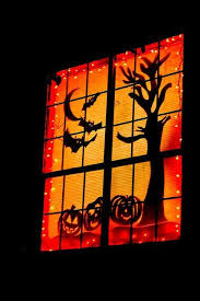 2015 halloween window silhouettes decoration ideas that you should