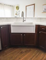 how to install farm sink in cabinet fireclay farmhouse kitchen sink installation guide