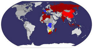 countries visited map travelblog visited countries map