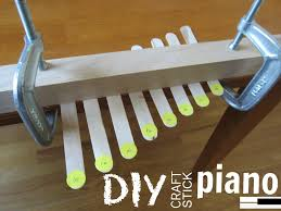 relentlessly fun deceptively educational diy craft stick piano