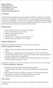 Service Technician Resume Sample Brilliant Ideas Of Biomedical Technician Resume Sample For Your
