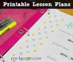 editable kindergarten lesson plan template
