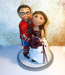 hockey player montreal canadiens skate wedding cake topper by l